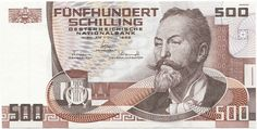 Otto Wagner on the old 500 schilling note. Almost 40 euro in today's money Otto Wagner, Tirol Austria, Old Things, Things To Come, Gold Money, Saving For Retirement, Childhood Memories, History, Retro