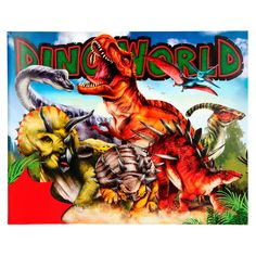 Dino World - Crea tu mundo de dinosaurios con pegatinas Fun World, Cool Stickers, Create Yourself, Comic Books, Comics, Art, Products, Gifts, World