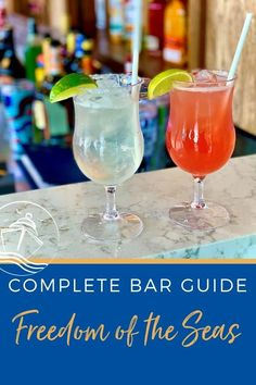 Our Freedom of the Seas Bar Guide includes all of the details, photos, and bar menus to help you make the most of your Royal Caribbean drink package. Craft Cocktails, Fun Drinks, Yummy Drinks, Freedom Of The Seas, Harmony Of The Seas, Cruise Excursions, Cruise Destinations, Cruise Tips, Cruise Travel