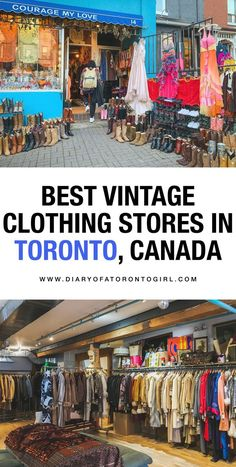 10 Best Toronto Vintage Clothing Stores to Refresh Your Wardrobe The best Toronto vintage, consignment, and thrift clothing stores to shop at. Toronto is a stylish city, and you'll find tons of amazing pieces at these local gems! Vintage Clothing Stores, Vintage Shops, Clothes Shops, Vintage Style Outfits, Vintage Fashion, Mom Fashion, Toronto Travel, Toronto Shopping, Toronto Vacation
