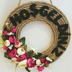 Çiçekli kapı süsü   Ahu Bayan Hobi Market