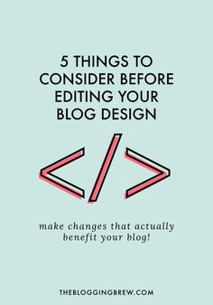 If your design just isn't working for you, you'll probably want to change it up a bit. Make sure you're following good editing technique with these tips!