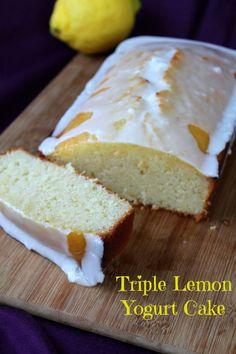 Triple Lemon Yogurt Cake from Awesome on 20