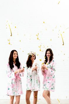 Capture you and your girls throwing confetti and celebrating! This is such a fun photo idea!