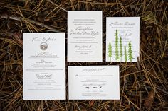 Tahoe invites.   Read More: http://www.stylemepretty.com/california-weddings/lake-tahoe-ca/2013/03/07/lake-tahoe-wedding-from-one-fine-day-events-theilen-photography/