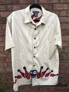 Men's Bowling Pins Shirt Size M by JustClickThreeTimes on Etsy