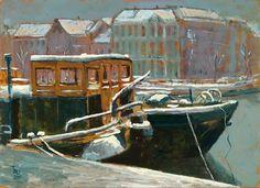 Noorderhaven Groningen, winter.