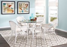 Shop for a New Pacific Cream 5 Pc Dining Set at Rooms To Go. Find Dining Room Sets that will look great in your home and complement the rest of your furniture. #iSofa #roomstogo, 388
