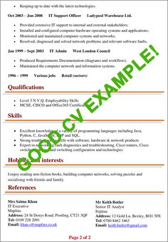 CV Examples | Example of a good CV (+ biggest mistakes to avoid!) Cv Format For Job, Job Resume Format, Resume Format Download, English Letter Writing, Writing A Cover Letter, Cover Letter For Resume, Professional Resume Examples, Cv Examples, Good Resume Examples