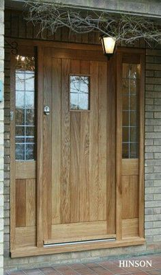 Oak front door decor Ideas for 2019 Country Front Door, Cottage Front Doors, Front Door Porch, Porch Doors, Cottage Door, Wood Front Doors, Front Door Entrance, Exterior Front Doors, House Front Door