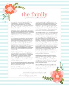 LDS The Family Proclamation to the World by alexazdesign