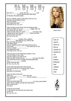 Oh My My My - Taylor Swift