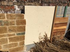 Sample boards for the materials for both the Dutch barns and the Grade II barn at Northend.