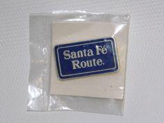 Santa Fe Route Enamel Railroad Pin NEW Hat Lapel Tie Tack Atchison Topeka RR picclick.com