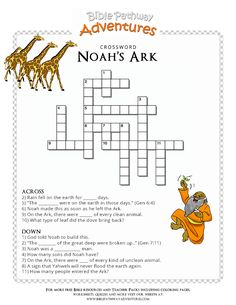 Free Noah's Ark lesson Plans, cartoons, and puzzles for parents and teachers. Learn about Noah's Ark, Nephilim, and the Great Flood. Kids Sunday School Lessons, Sunday School Activities, Bible Activities, Church Activities, Bible Study For Kids, Bible Lessons For Kids, Kids Bible, Noah's Ark Bible, Noahs Ark Craft