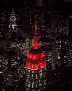 Empire State Building in RED