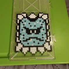 Thwomp Super Mario perler beads by b.dawg.skip