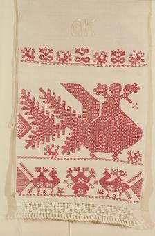 Europe - Finland, Russia/Karelia, käspaikka Russian Embroidery, Folk Embroidery, Cross Stitch Bird, Russian Folk, Folklore, Blackwork, Finland, Fiber Art, Weaving