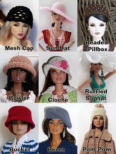Hats by Cozy Couture, via Flickr