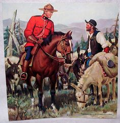 1953 original Arnold Friberg CANADIAN MOUNTIE Print #13