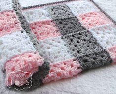Image result for grey and white baby blanket crochet granny square