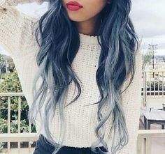 Immagine di hair, blue, and girl