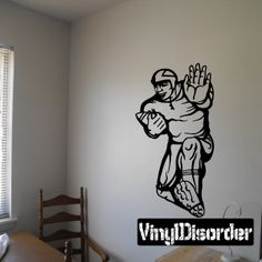 Football Player Wall Decal - Vinyl Decal - Car Decal - CDS065