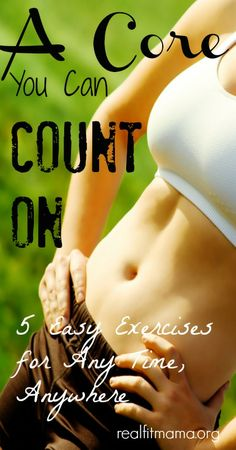 A Core You Can Count On: 5 Easy Exercises for Anytime, Anywhere Fitness Tips, Fitness Motivation, Health And Wellness, Health Fitness, Good Health Tips, Health Articles, Workout For Beginners, Easy Workouts, Sport