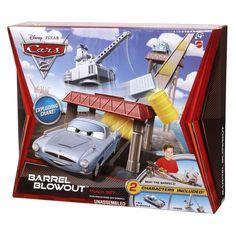 Disney Pixar Cars 2 Barrel Blowout Track Set with Finn McMissile & Crane NIB #DisneyPixar