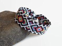 Tribal friendship bracelet unisex adult macrame by Kreativprodukte