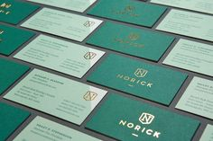 Norick Risk Brokers Foiled Stamped Business Card Design by Braizen