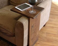 Sofa Chair Arm Rest Table Stand II with Shelf and von KeoDecor
