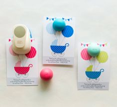 EOS Lip Balm Holder for Baby Shower Favors Baby by maydetails
