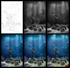 Underwater in process by Azot2014.deviantart.com on @deviantART