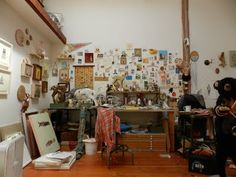 the art studio of Michael McConnell