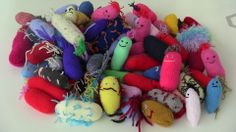 A gaggle of miscellaneous #microbes - some friendly, some perhaps not so :-)  http://www.glasgowcityofscience.com/get-involved/knitting-microbes