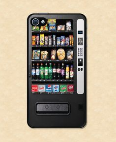Iphone case Snack Vending Machine Iphone 4 case cool awesome Iphone 4s case. $14.99, via Etsy.
