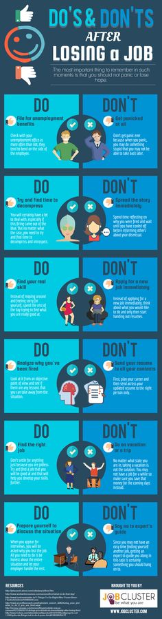 Do's and Don'ts After Losing a Job- Infographic