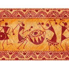 Warli, love the border leaf pattern