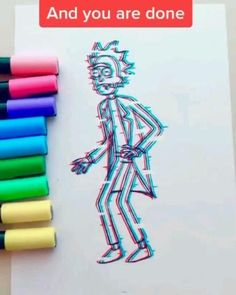 Posca Marker, Copic Marker Art, Trippy Drawings, Psychedelic Drawings, Hippie Painting, Trippy Painting, Art Drawings Sketches Simple, Easy Drawings, Rick And Morty Drawing