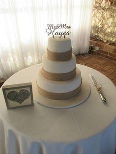 My rustic Wedding cake :-)