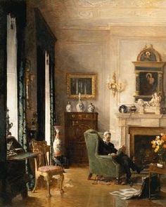 Albert Chevallier Tayler - The Grey Drawing Room