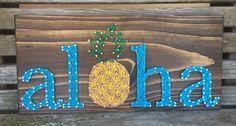 Aloha String Art, Hawaii, Pineapple - order from KiwiStrings on Etsy! www.kiwistrings.etsy.com