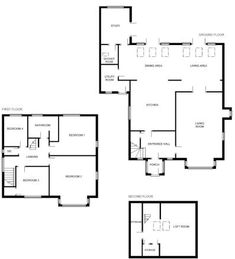 Rightmove.co.uk Modern Bungalow Exterior, Detached House, Property For Sale, Floor Plans, How To Plan, Kitchen, Cooking, Home Kitchens, Kitchens