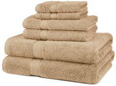 Amazon.com: Pinzon Egyptian Cotton 6-Piece Towel Set, Driftwood: Home & Kitchen