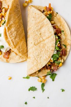 Tacos with Roasted Corn and Crispy Prosciutto