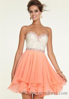 Mori Lee 9306 Beaded Short Prom Dresses of 2015 Spring