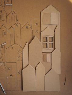 Cardboard Sculpture, Cardboard Crafts, Paper Crafts, Art Drawings For Kids, Art For Kids, Diy And Crafts, Crafts For Kids, Advent Calenders, Paper Houses