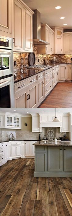 This kitchen design post is a remastered and remixed version of my original post, 30 Stunning Kitchen Designs — hence the ®️ in the title. These are some of my very favorite kitchen design ideas that I have collected over the past few years. Kitchen Pictures, Kitchen Ideas, Kitchen Pics, Kitchen Reno, Kitchen Cabinetry, Cabinets, Kitchen Upgrades, Love Home, Home Kitchens