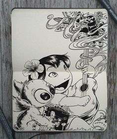 #150 Lilo and Stitch by 365-DaysOfDoodles.deviantart.com on @deviantART